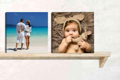 "Deco Matters - Square ""8 x 8"" personalised canvas with 18mm frame - Save 93%"
