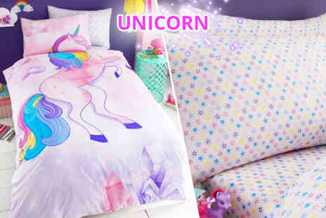 U Are Home - Kids duvet set or duvet set with a fitted sheet choose from two designs - Save 80%