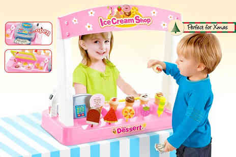 Craze UK - 24 piece ice cream shop play set - Save 68%