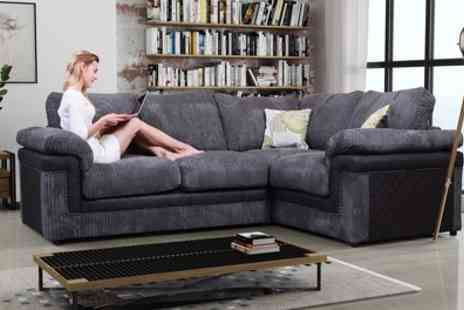 Groupon Goods Global GmbH - Genesis Right or Left Hand Corner Sofa With Free Delivery - Save 50%