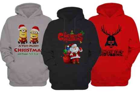 Groupon Goods Global GmbH - Mens Christmas Overhead Hoodies in Choice of Colour and Design - Save 0%
