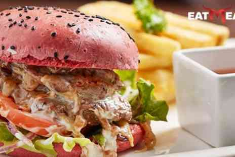 Eat Meat - Burger with Chips and Drink for Lunch or as Evening Meal for Two or Four - Save 32%