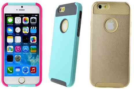 Groupon Goods Global GmbH - Hybrid Hard Case for iPhone in Choice of Colour - Save 80%
