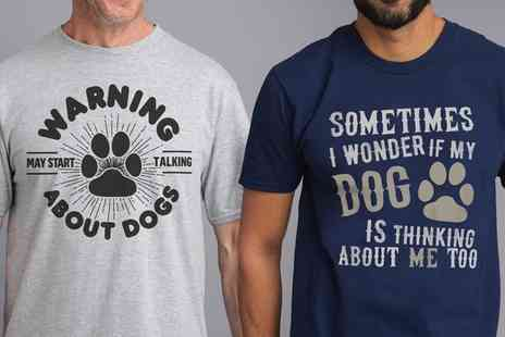 Groupon Goods Global GmbH - Mens Dog Lovers Tshirts in Choice of Colour and Design - Save 41%
