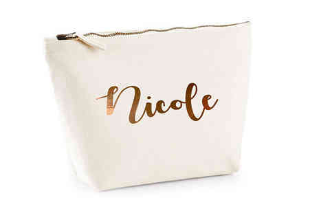 Treats On Trends - Large Rose Gold Personalised Makeup Bag - Save 55%