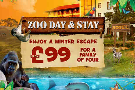 Chessington World of Adventures - Overnight stay for a family of four with zoo and Sea Life entry - Save 0%