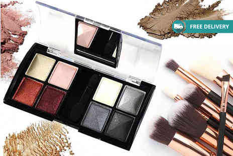 GetGorgeous - Eight colour compact mirror eyeshadow palette with five shade options Plus Delivery Included - Save 75%