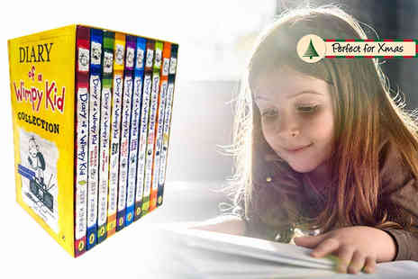 PCS Books - Diary of a Wimpy Kid 10 book collection - Save 64%