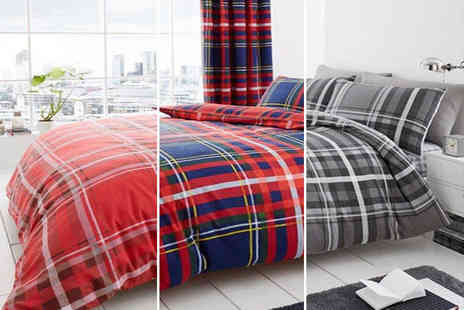 U Are Home - Single premium tartan duvet cover set choose between three colours - Save 78%