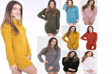 Lush Clothing - Womens oversized chunky cable knit jumper select from two sizes, seven colours  - Save 76%