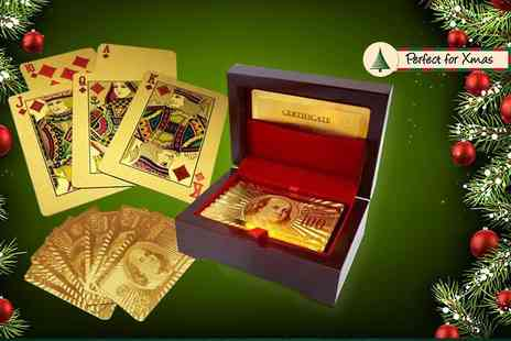 London Exchain Store - Set of gold plated playing cards do a deal - Save 78%