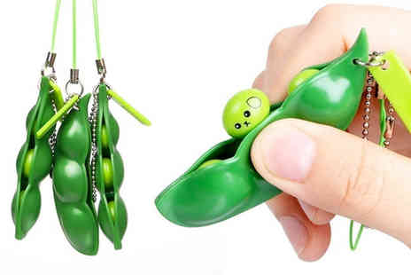 ViVo Technologies - Two squeezy bean anti stress keychains - Save 80%