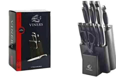 Groupon Goods Global GmbH - Viners Naxos 14 Piece Knife Block - Save 60%