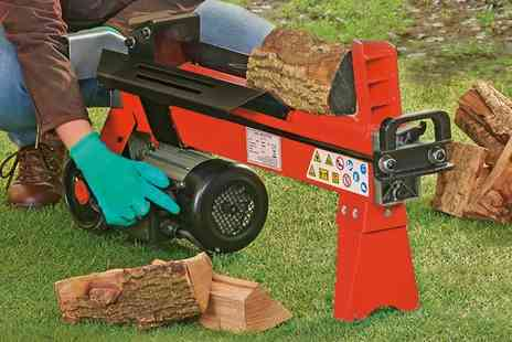 Groupon Goods Global GmbH - Six Ton Electric Log Splitter With Free Delivery - Save 45%