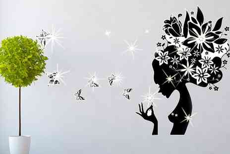 Groupon Goods Global GmbH - Vinyl Wall Stickers with Crystals from Swarovski in Choice of Designs - Save 77%