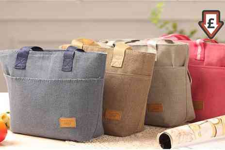 Groupon Goods Global GmbH - One, Two or Four Canvas Thermal Lunch Bags in Choice of Colour - Save 80%