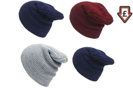 Groupon Goods Global GmbH - One, Two, Three or Four Unisex Knitted Winter Hats in Choice of Colour - Save 78%