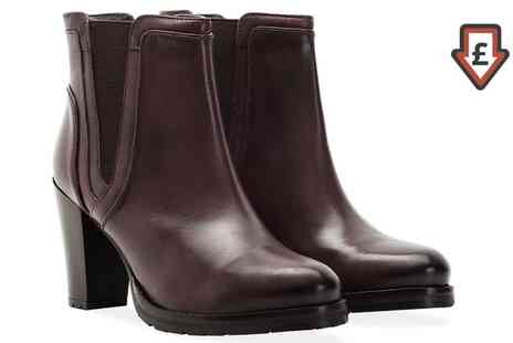 Groupon Goods Global GmbH - Redfoot Womens Heeled Leather Ankle Boots - Save 85%