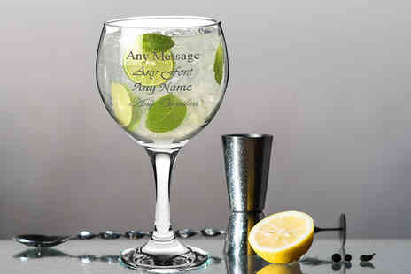 CNC Group - Engraved Spanish Balloon gin and tonic glass - Save 65%