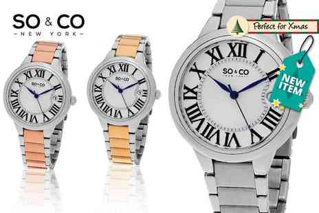 Y Fashion - Womens So&Co two tone metal watch choose from three designs - Save 80%