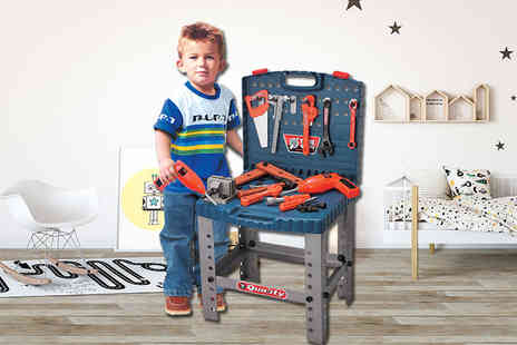 Zoozio - Childrens toy work bench and tool kit gift a budding mechanic - Save 61%
