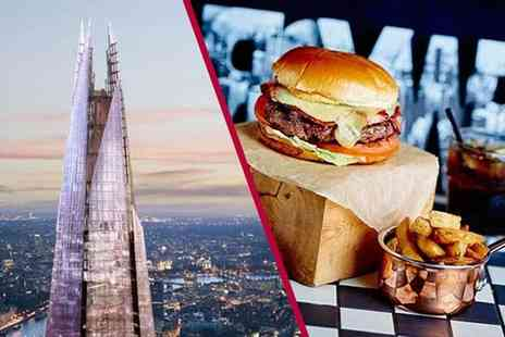 Buyagift - Entrance for two to The View from the Shard plus a three course meal and glass of Prosecco - Save 0%
