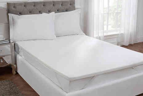 Cascade Home - Single, double, king or super king size Cascade Home deep memory foam mattress topper - Save 58%