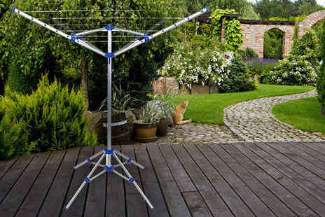 Who Needs Shops - Outdoor or indoor 15m portable rotary washing line - Save 78%
