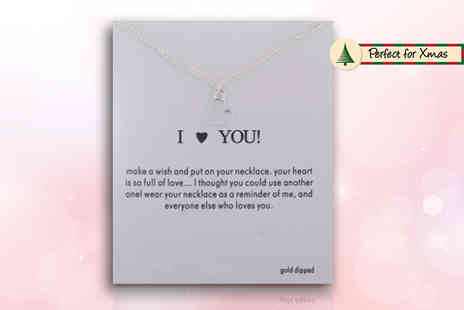 Solo Act - I love you necklace on a message card - Save 80%