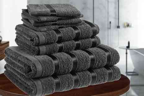 Groupon Goods Global GmbH - 500gsm Eight Piece Pure Cotton Towel Bale - Save 68%