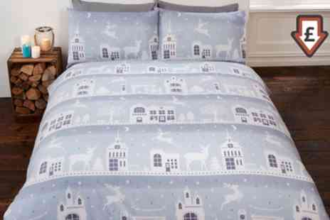Groupon Goods Global GmbH - Clearance Thermal Flannelette Duvet Sets - Save 75%