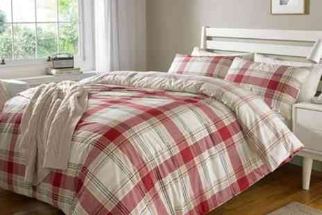 Groupon Goods Global GmbH - Pieridae Check Reversible Duvet Cover Set - Save 71%