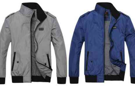 Groupon Goods Global GmbH - Mens Contrast Collar Harrington Jacket - Save 60%