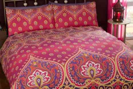 Groupon Goods Global GmbH - Exotic Printed Duvet Sets in Choice of Colour and Size - Save 68%
