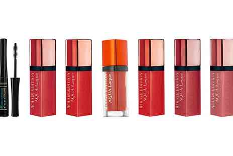 Groupon Goods Global GmbH - Bourjois Three Rouge Aqua Laque Lipsticks and Queen Attitude Mascara - Save 74%