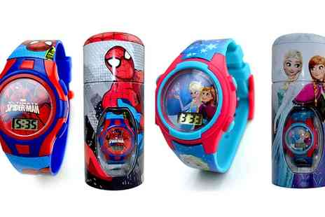 Groupon Goods Global GmbH - Digital Watches in Tin in Choice of Design - Save 65%