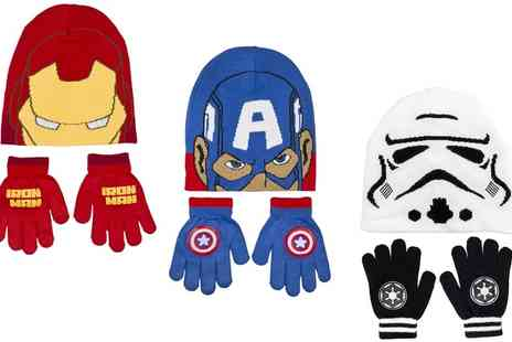 Groupon Goods Global GmbH - Boys Disney Character Winter Hat and Gloves Set - Save 65%