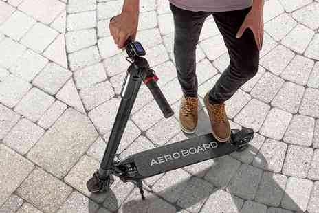 Groupon Goods Global GmbH - AeroBoard Carbon Fibre 24v Electric Folding Scooter With Free Deliver - Save 0%