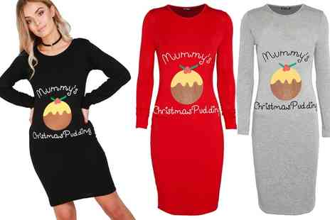 Groupon Goods Global GmbH - Be Jealous Christmas Slogan Dress - Save 63%