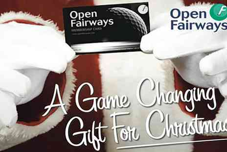 Open Fairways - Gift 12 or 24 Month Golf Privilege Card Valid Worldwide - Save 67%
