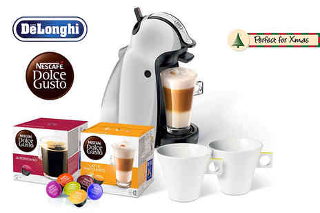 UK Business Supplies - De Longhi Dolce Gusto White Piccolo coffee machine with mug and pod bundle - Save 54%