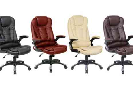 Groupon Goods Global GmbH - Executive Reclining Office Chair or Massage Chair With Free Delivery - Save 60%