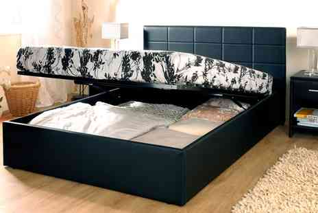 Groupon Goods Global GmbH - Ottoman Bed Frame with Option to Include Mattress With Free Delivery - Save 66%