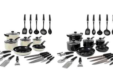 Groupon Goods Global GmbH - Morphy Richards 6-Piece Pan Set and 14 Piece Tool Set With Free Delivery - Save 70%