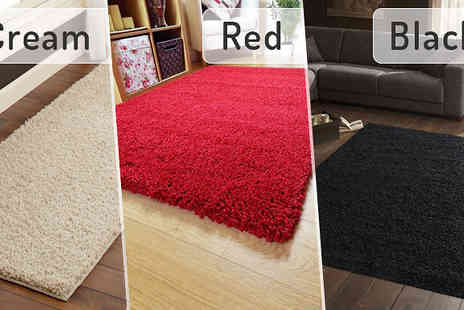 Groundlevel - Luxury Shaggy Rug Available in Five Sizes - Save 85%