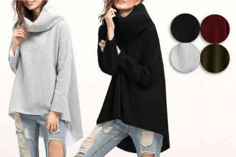 Shenzhen steady rapid trade - Chunky collar asymmetrical fleece lined jumper - Save 56%
