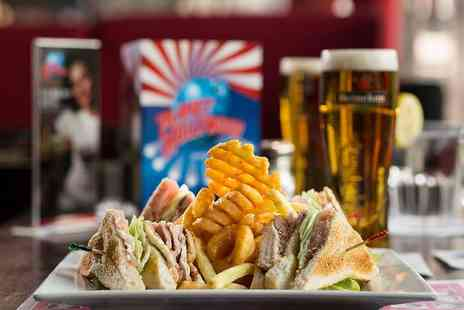 Planet Hollywood - Two course meal for one - Save 52%
