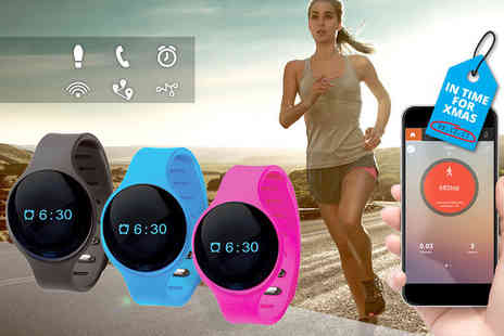 Ckent - 9 in 1 touchscreen bluetooth activity tracker in black, blue or pink - Save 60%