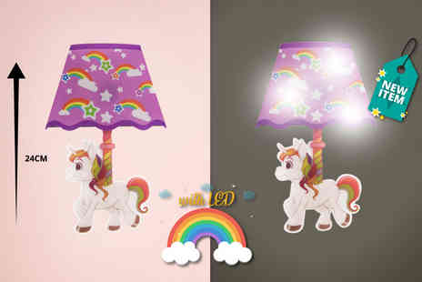 Direct 2 Publik - Unicorn night light wall sticker - Save 80%