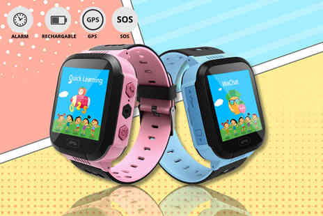 Charles Oscar - Child safety GPS tracker smart watch choose from blue or pink - Save 83%